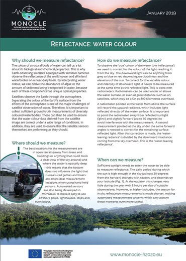 Reflectance Fact sheet front cover