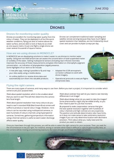 Drone Factsheet front cover