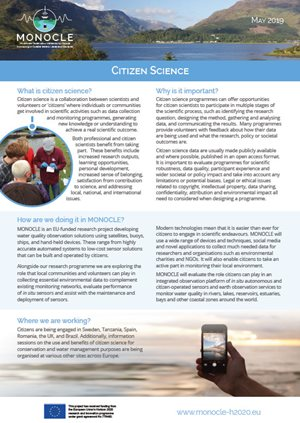 Citizen science fact sheet